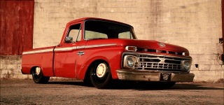 Turpentine: Exquisitely Cool Supercharged Turbo Powered 1966 Ford F100 Slammed Air Ride!