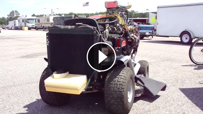 Monstrously Cool Lawn Mower Powered By Chevrolet 350 Small