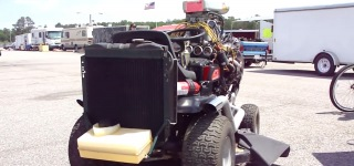Monstrously Cool Lawn Mower Powered by Chevrolet 350 Small Block Engine