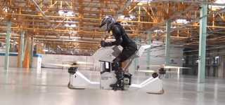 The Scorpion-3: Quad-Copter Technology Gave Birth to Single Seat Flying Motorbike