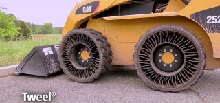 French Tire Manufacturer Michelin Set Up Comparison Test: X-Tweel SSL Vs Solid Tire Vs Bias Pneumatic Tire