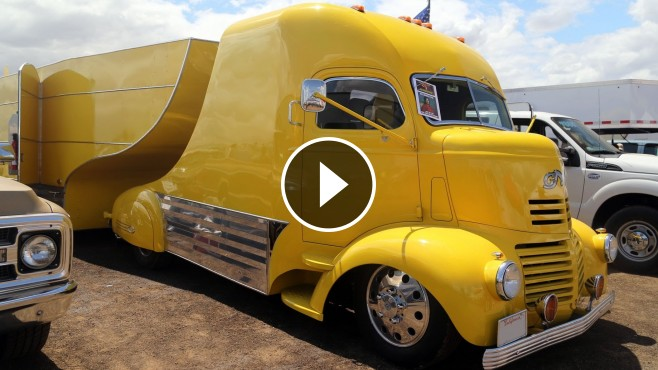 1941 GMC COE Inspired Uniquely Beautiful Truck and Trailer ...