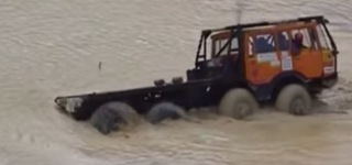 Where Other Sink, Tatra Drives On: Heavy-Duty Truck Tatra 815 Goes Through an Awesome Challenge