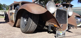 Professionally Bagged, Chopped and Sectioned 1930 Model Studebaker Rad Rod Is Cool as Hell