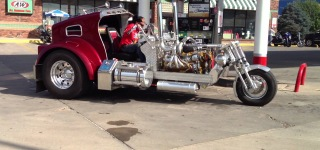 Ingeniously Designed Detroit Diesel Powered Trike that You Won't Believe Actually Exists!