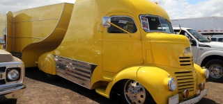1941 GMC COE Inspired Uniquely Beautiful Truck and Trailer Combination