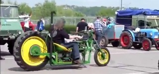A perfect Combination of Trike and Tractor That Will Flame Up the Streets With Its Unique Style