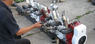 Spectacularly Built FrankenBriggs 6-Cylinder Engine's Very First Run Gone Perfect!!!