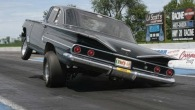 Spectacular 1960 Chevrolet Bel Air Makes an Incredible Wheelstand