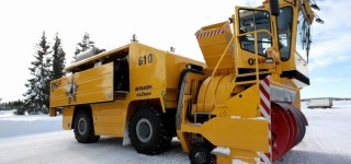 Norway's Extra Large Snow Blower With 2000hp Installed Power Capacity
