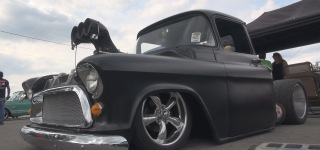454c.i Engine Powered Super Charismatic Matte Black 1957 Chevrolet Pickup Truck