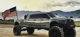 MegaRamRunner: Long Bed Six-Door Cab 600hp Cummins Powered Monster Truck Must be the Dream Truck for Many