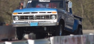 Super Exciting Drag Racing of Ford Farm Trucks at Wisconsin International Raceway