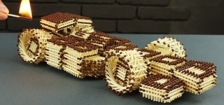 Making a Super Cool F1 Racing Car With Matches and Without Glue-Must See!!!