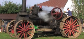 Majestic and Gigantic Steam Tractor Works Super Functionally While Plowing