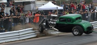 Exciting Drag Race Gone Bad: Blown 32 Ford Vs Chuck at No Prep Mayhem