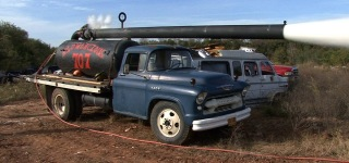 Urban HillBilly Videos Presents: 1955 Chevrolet Pumpkin Cannon Vs Old Vans