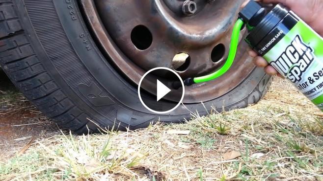 Quick Spair Tire Inflator-Sealer: Amazing Solution to Fix ...