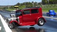 Bizarre Accident Footage: Badass Hot Rod Crashes While In Drag Racing