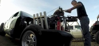 Fantastically Modified Dodge Dakota Nicknamed Radioactive Drives Perfectly