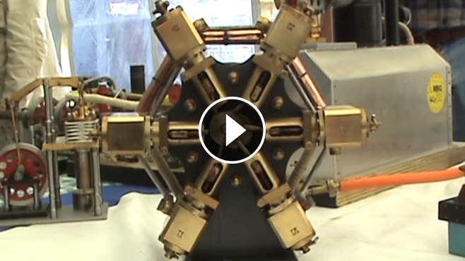 Exclusively Designed 6 Cylinder Radial Steam Engine Is
