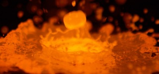 The Slow Mo Guys Presents: Molten Copper Pouring Down in 1200°C