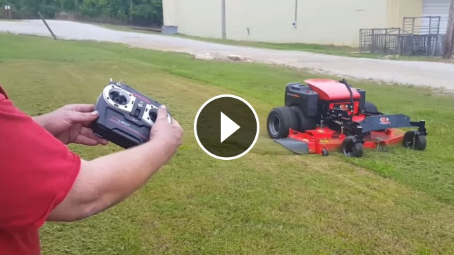 Dual Wheel Drive ZTR-60 RC Lawnmower Works Like a Beast ...