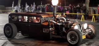 Pure American: Excellently Cool Rat Rod Customized By Welder Up Performs Sick Burnouts