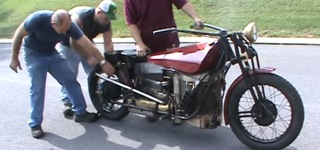 Loco Cycle Motorcycle Powered with a Smokin' Hot Steam Engine and Stainless Burner