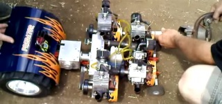 Perfectly Built RC Model Vehicle Pulling a Big Trailer Gives Guys a Barrel of Fun