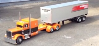 Homebuilt RC Peterbilt Truck and Trailer!
