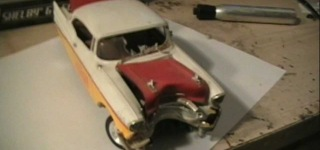 How To Make Your Plastic Model Car Junker Look Like It Wrecked Into A Tree Or Pole!