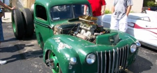 Custom Built Frame Bagged Stacked Insanely Impressive 1947 Ford Rat Rod Semi Truck