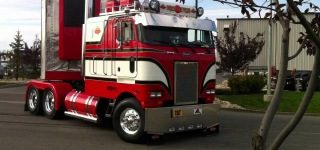 Fantastic Looking Cabover COE Peterbilt Is Rolling Down the Streets