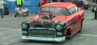 Blown Alcohol Powered 1955 Chevy Performs Like a Boss!