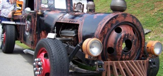 Breathtaking Rat Rod Looks Like a Locomotive!