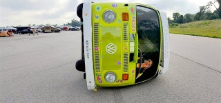 World's Craziest Volkswagen Van Camper Drives on Its Side