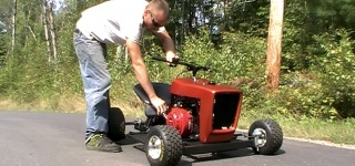 Incredibly Cool Go Kart Made Using Lawnmower is a Beast