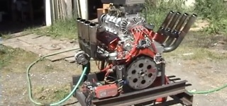 Monstrously Big 454 Chevrolet Wiend Blower Twin Carbs is Gonna Amaze You