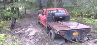 Battle of Machinery Against Nature: 453t Detroit Diesel Powered 1978 Ford F250 vs Mudhole