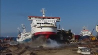 A Huge Ferryboat Crashes into a Turkish Coast