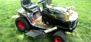 Update to Go Better: Builder Installs Exhaust to His Hot Rod Lawn Tractor!