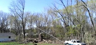 Bizarre Fail Footage: Good Tree Gone Bad Ruins the Roof-Must See!!!