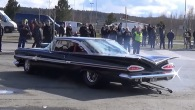 V8 Big Block Powered 1959 Chevy Impala Does Crazy Burnouts!