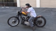 "BRUTAL Sound! 1946 Knuckle bobber ""the Sled"""