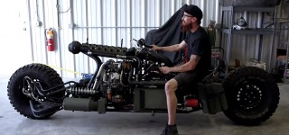 Twin-Turbo Diesel AWD Motorcycle is Made out of Everything Including Sink and Cement Mixer