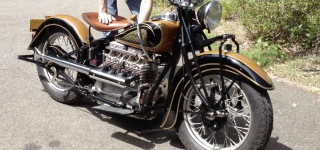 A True Classic: 1938 Indian Motorcycle Has a Stunning Mechanical Structure