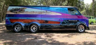 "The ""Deathstar"": Super Attractive Star Wars Themed 1977 Custom Dodge Van"