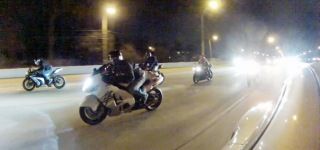 Awesome 1200hp Porsche Annihilates a Group of Bikers