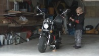 2 Year Old Cute Swedish Girl Rides Her Own Custom Mini Harley to Daycare